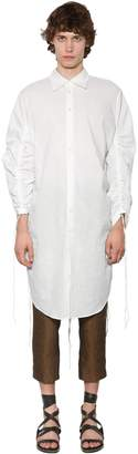 Ann Demeulemeester Extra Long Cotton Poplin Shirt
