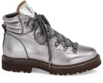 Brunello Cucinelli Shiny Lame Urban Hiking Boots