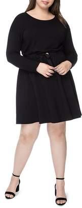 Bobeau B Collection by Curvy Otis Tie-Waist Dress