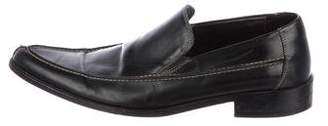 Donald J Pliner Leather Pointed-Toe Loafers