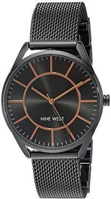 Nine West Women's NW/1923GNRT Mesh Bracelet Watch