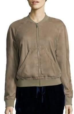 Saks Fifth Avenue COLLECTION Velvet Bomber Jacket