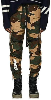 Off-White Men's Camouflage Cotton Ripstop Cargo Pants