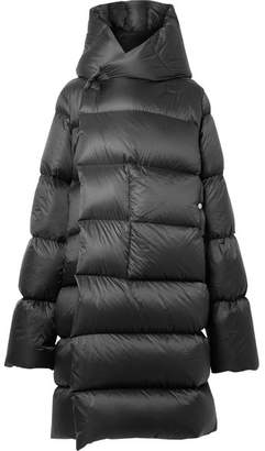 Rick Owens Oversized Hooded Quilted Shell Down Coat - Black