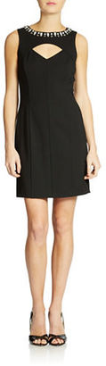 Ali Ro Beaded Pieced Dress $348 thestylecure.com
