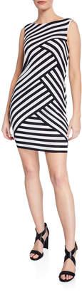 Bailey 44 Masters Degree Striped Body-Con Mini Dress