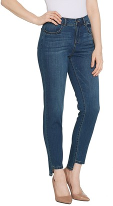 Lisa Rinna Collection Step Hem Jeans