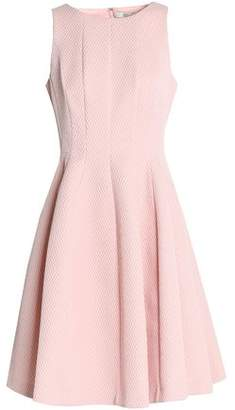 Badgley Mischka Pleated Jacquard Dress