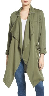 Women's C & C California Drape Front Trench Coat $150 thestylecure.com