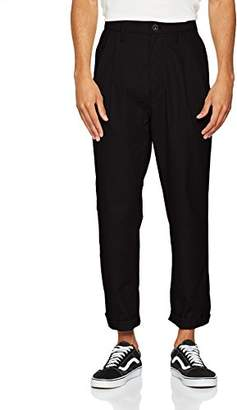 G Star Men's Bronson Pleated Relaxed Tapered Chino Trousers, (dk Black 9405-6484), W34/L32