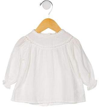 Tocoto Vintage Girls' Lace-Trimmed Blouse w/ Tags