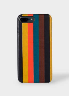 Paul Smith 'Bright Stripe' Leather iPhone 7/8 Plus Case