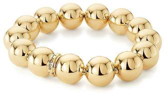 Lagos Caviar Gold Collection 18K Gold Beaded Stretch Bracelet, 15mm
