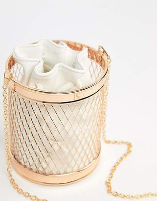 Asos Caged Bucket Bag With Inner Pouch