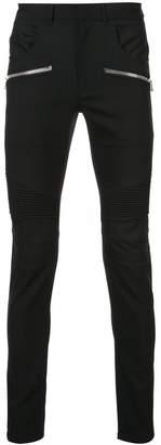 Balmain casual biker trousers