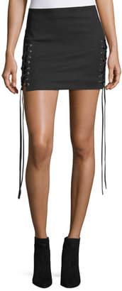 Helmut Lang Corset Lace-Up A-Line Mini skirt