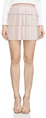 BCBGMAXAZRIA Zana Pleated Mini Skirt