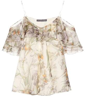 Alexander McQueen Silk off-the-shoulder top