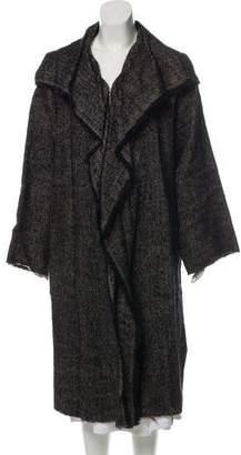 Lanvin Wool & Linen Bouclé Coat