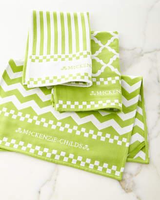 Mackenzie Childs Key Lime Dish Towels, Set of 3