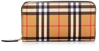 Burberry Vintage Check Elmore Zip Around Wallet