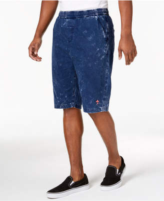 Lrg Men's Johannesburg Classic-Fit Marled Over-Dyed Drawstring Shorts