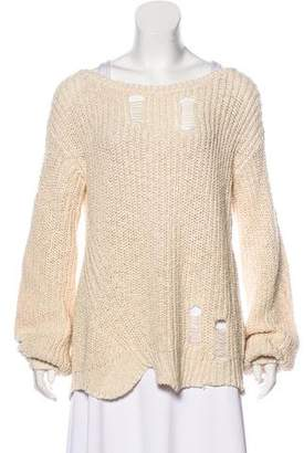 Pam & Gela Distressed Long Sleeve Sweater