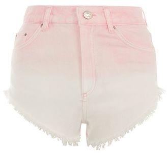 Topshop Moto pink ombre kiri shorts $58 thestylecure.com