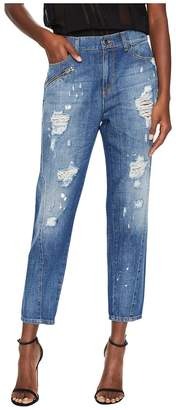 Versace Distressed Boyfriend Light Wash Jeans Women's Jeans
