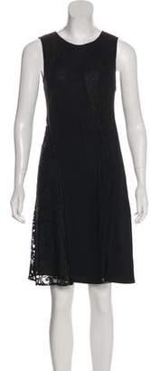 Philosophy di Alberta Ferretti Lace-Trimmed Sleeveless Dress