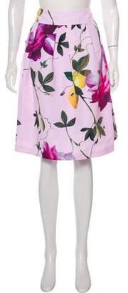 Ted Baker Mini Floral Print Skirt
