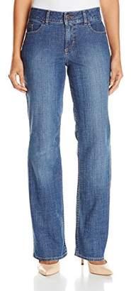 Lee Indigo Women's Petite Midrise Straight-Leg Jean