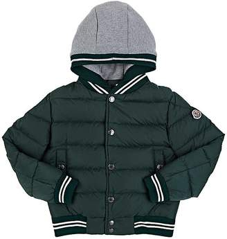 Moncler Down-Quilted Varsity Jacket $495 thestylecure.com