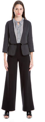 Max Studio stretch jacquard cropped jacket