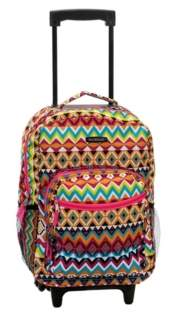 """Rockland Tribal 17"""" Rolling Backpack"""
