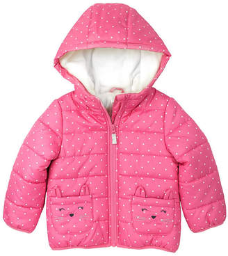 Carter's Fleece Lined Polka Dot Puffer Jacket - Baby Girl