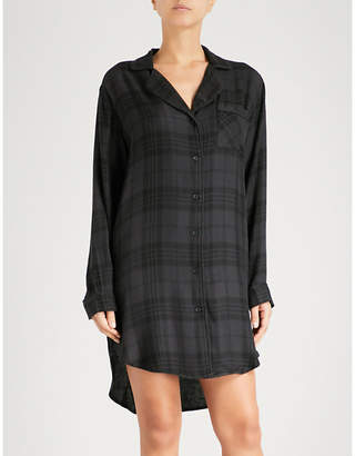 Rails Check flannel sleep shirt