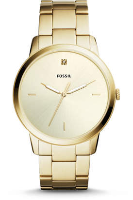 Fossil The Minimalist Carbon Series Three-Hand Gold-Tone Stainless Steel Watch