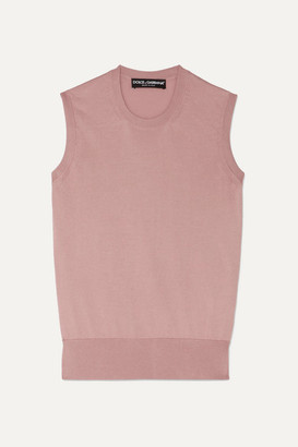 Dolce & Gabbana Silk Vest - Pink