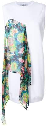 MSGM scarf panel mini shift dress