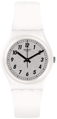 Swatch White Analog Silicone Strap Watch