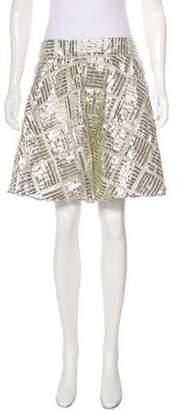 Alice + Olivia Flared Mini Skirt
