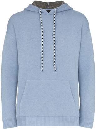 Alanui Bandana knitted hoodie