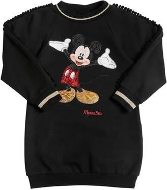 MonnaLisa Mickey Mouse Cotton Sweatshirt Dress