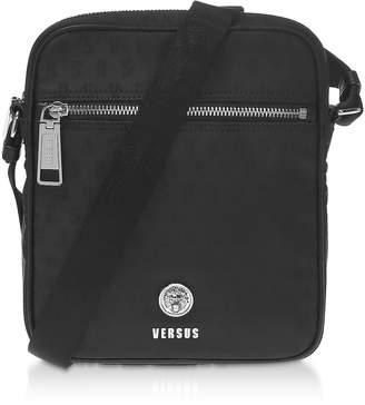 Versace Versus Black Signature Nylon Crossbody Bag