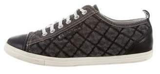 Chanel Cap-Toe Quilted Sneakers