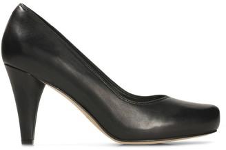 Clarks Dalia Rose Leather Court Shoes