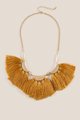 francesca's Alanna Tassel Statement Necklace - Marigold