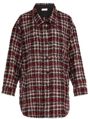 Faith Connexion - Tartan Tweed Overshirt - Mens - Red