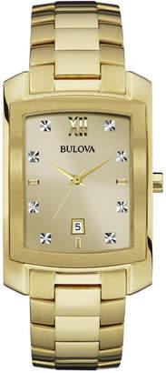 Bulova Men's Diamond Accent Gold-Tone Stainless Steel Bracelet Watch 31mm 97D107